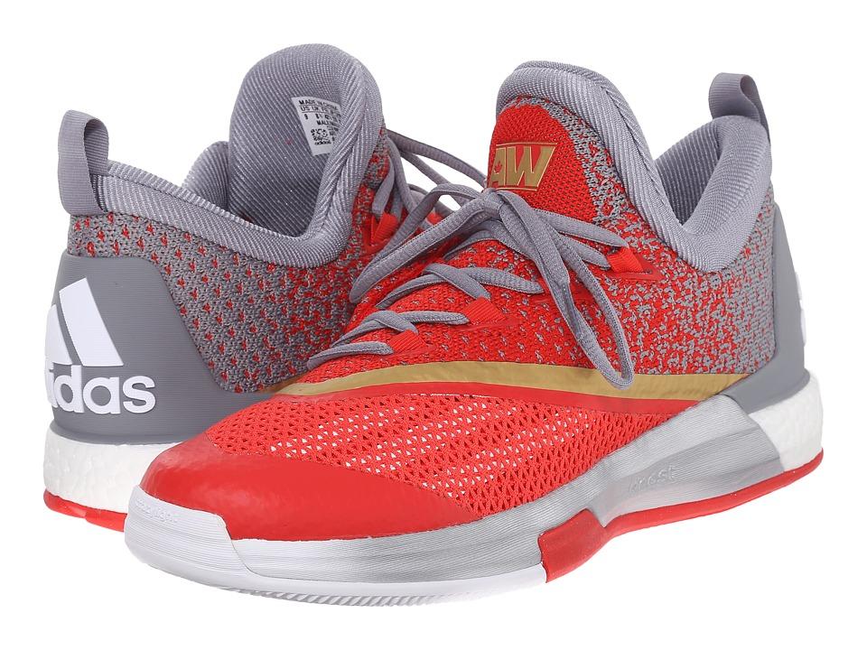 adidas Crazylight Boost 2.5 Low (White/Grey/Vivid Red) Men