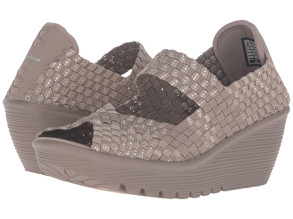 SKECHERS - Parallel (Taupe/Silver) Women's Shoes