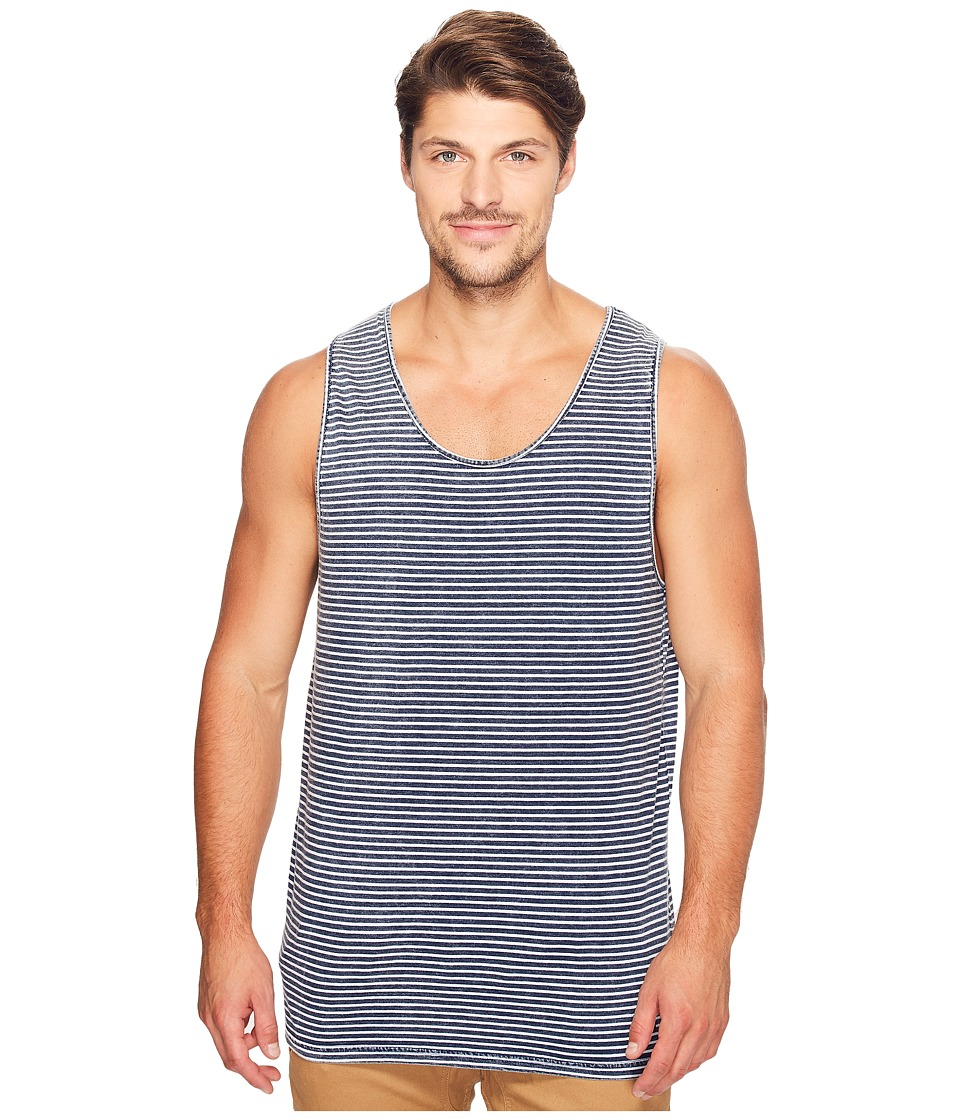 Globe - Moonshine Singlet (Indigo Washed Stripe) Men's Sleeveless