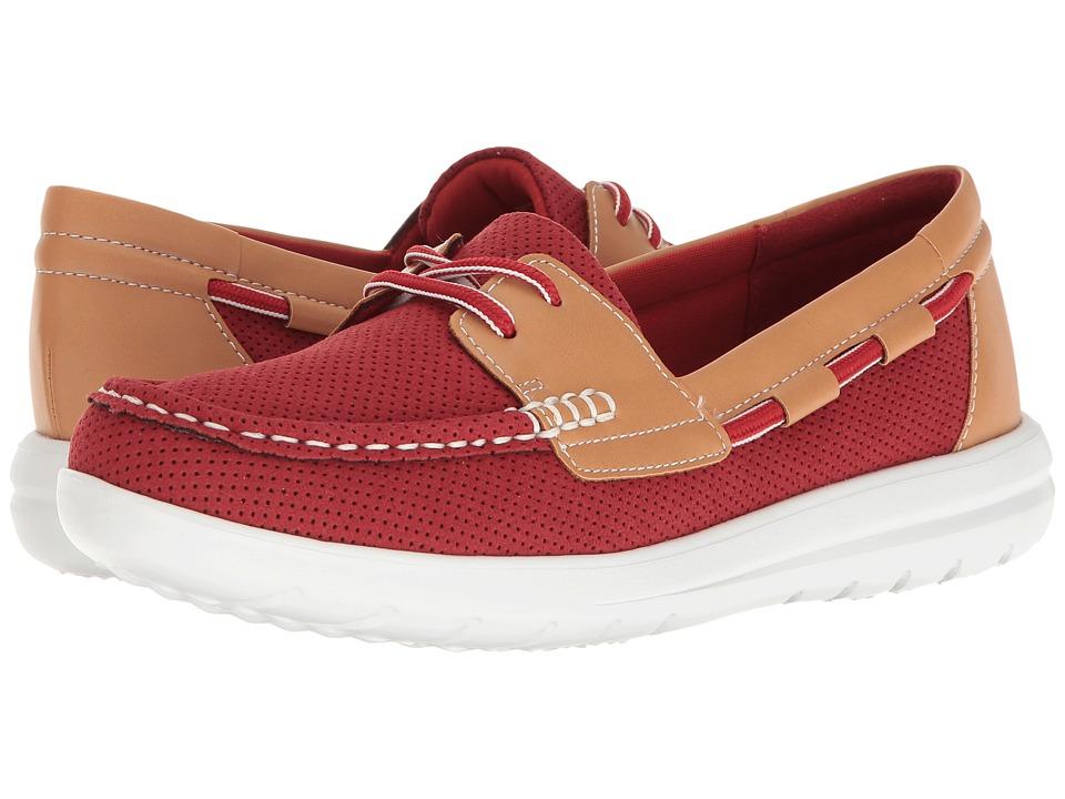 Clarks - Jocolin Vista (Red Perf Microfiber) Women's Shoes
