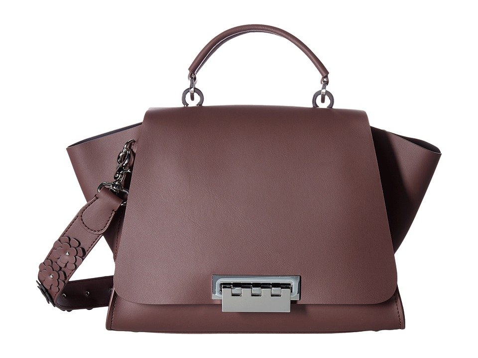 ZAC Zac Posen - Eartha Iconic Soft Top-Handle (Purple) Top-handle Handbags