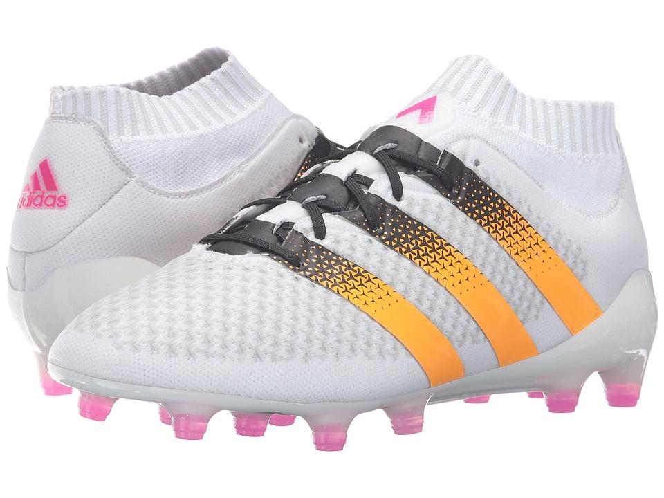 adidas - ACE 16.1 Primeknit FG (White/Solar Gold/Shock Pink) Women's Shoes