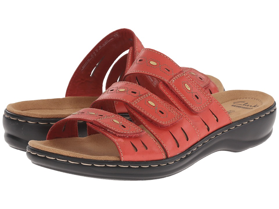 Clarks - Leisa Broach (Coral Leather) Women's Shoes