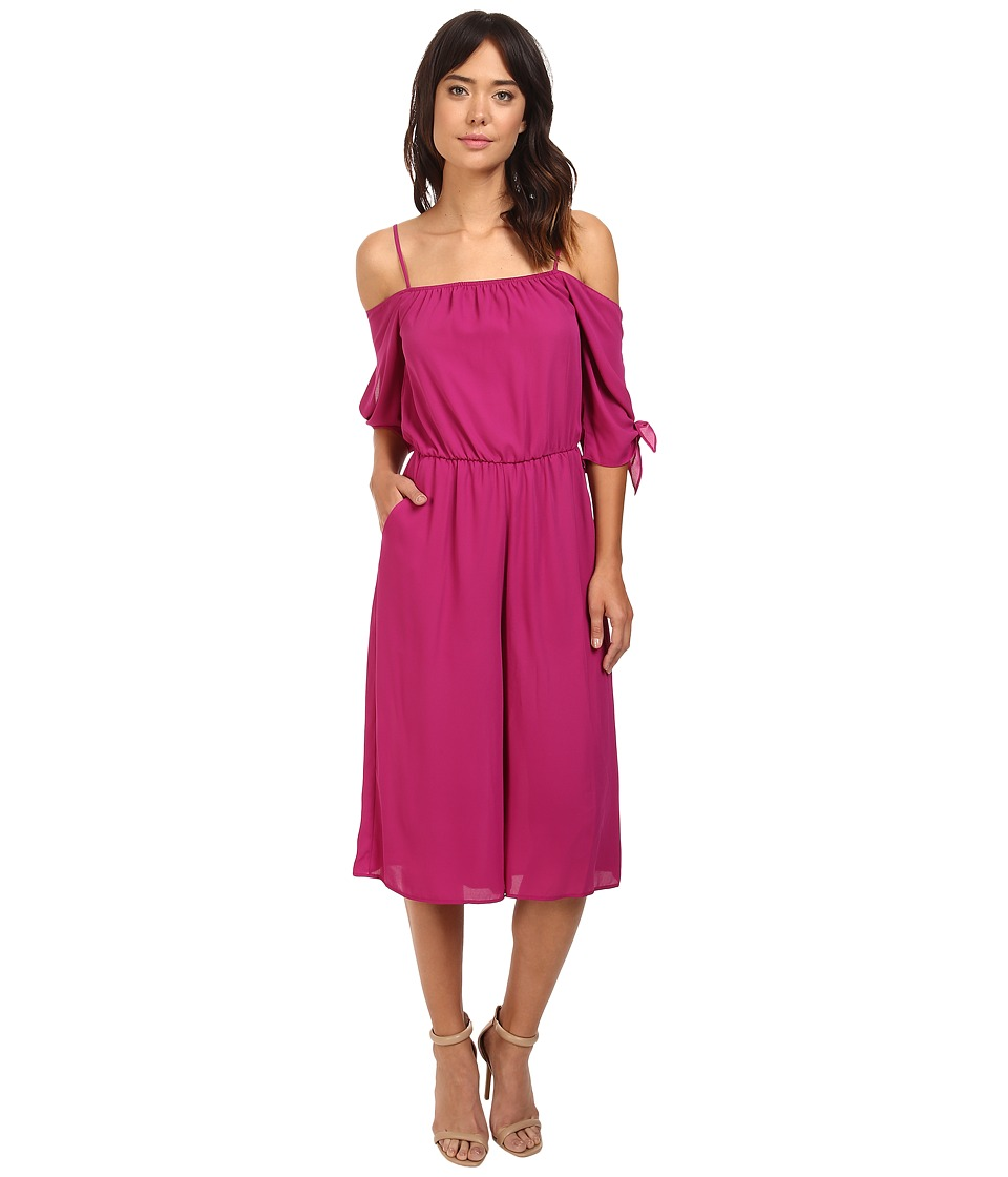 Brigitte Bailey - Cade Cold Shoulder Jumper (Berry) Women's Jumpsuit & Rompers One Piece