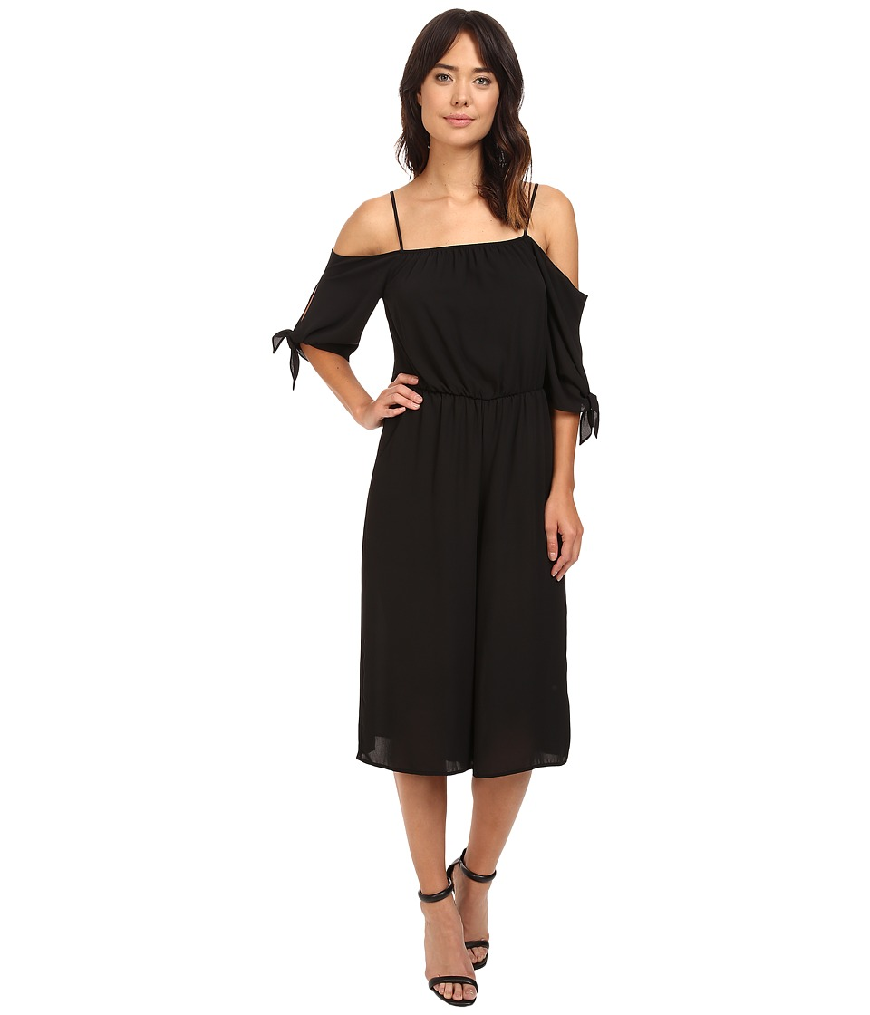 Brigitte Bailey - Cade Cold Shoulder Jumper (Black) Women's Jumpsuit & Rompers One Piece