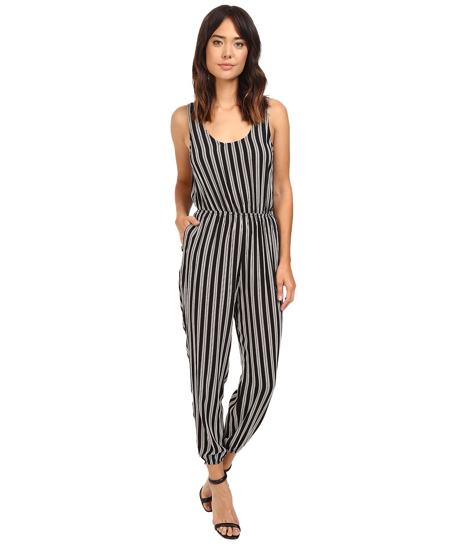 Brigitte Bailey - Cambrie Sleeveless Striped Jumper (Black/White) Women's Jumpsuit & Rompers One Piece