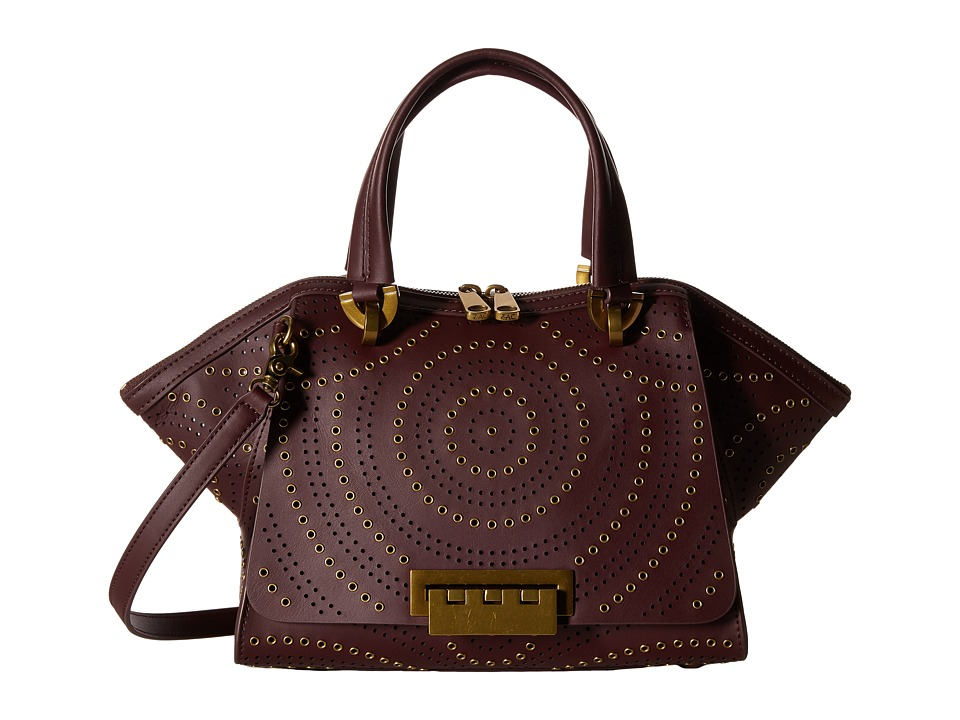 ZAC Zac Posen - Eartha Iconic Small Double Handle (Wine) Handbags