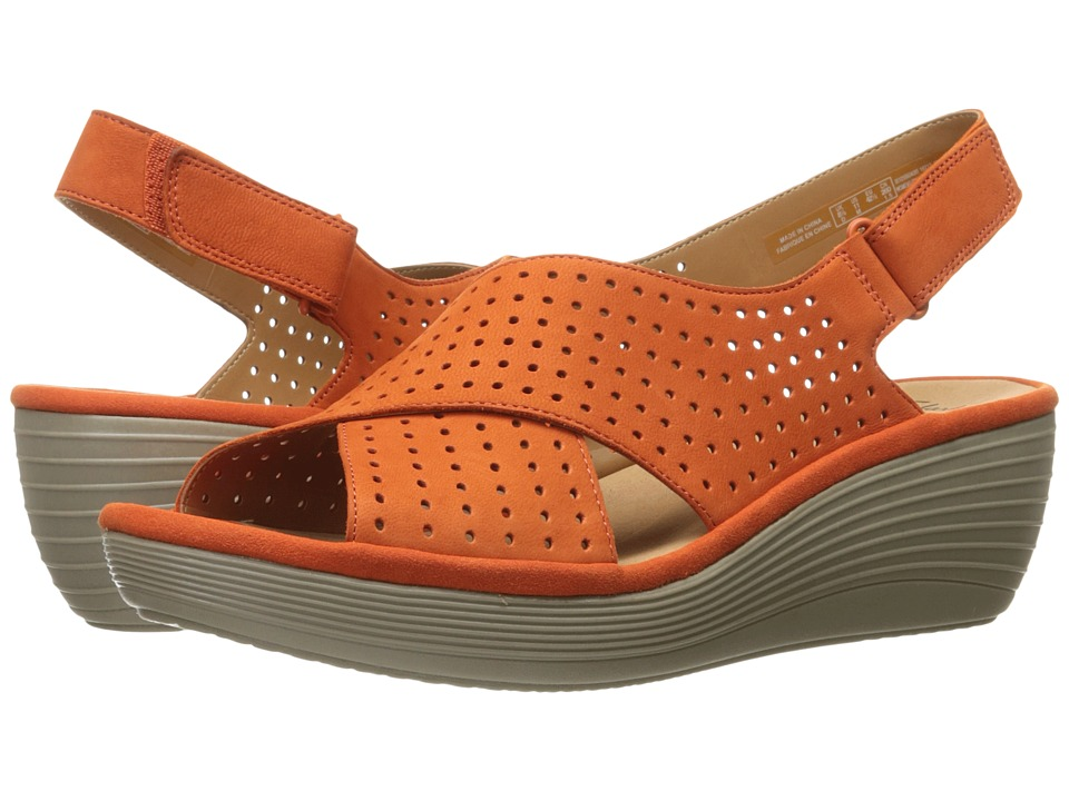 Clarks - Reedly Variel (Papaya Orange) Women's Shoes