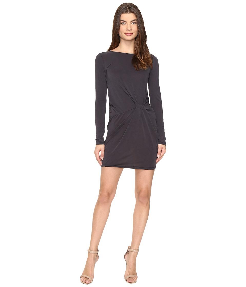 Culture Phit - Jaclyn Long Sleeve Dress with Front Twist (Black) Women's Dress