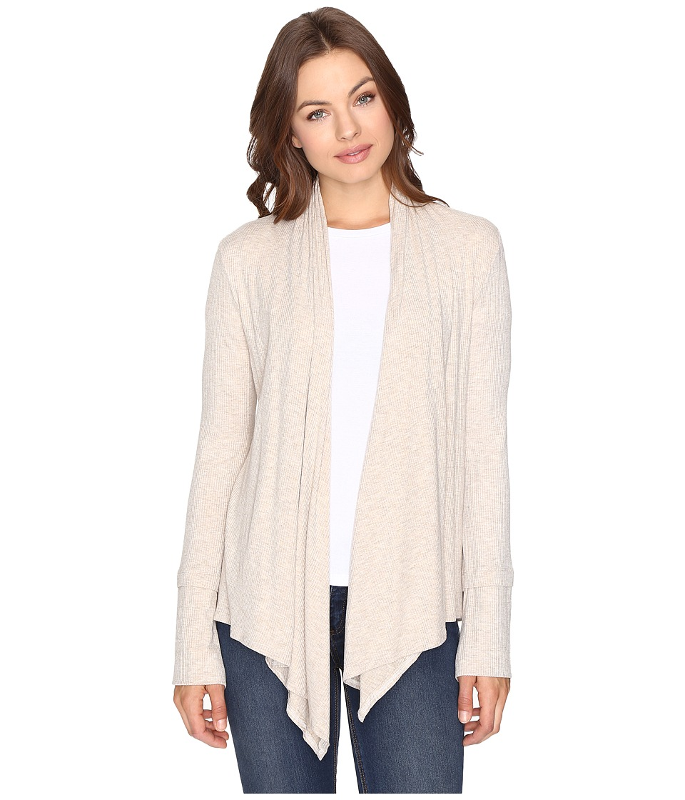 Culture Phit - Edda Long Sleeve Ribbed Cardigan (Oatmeal) Women's Sweater