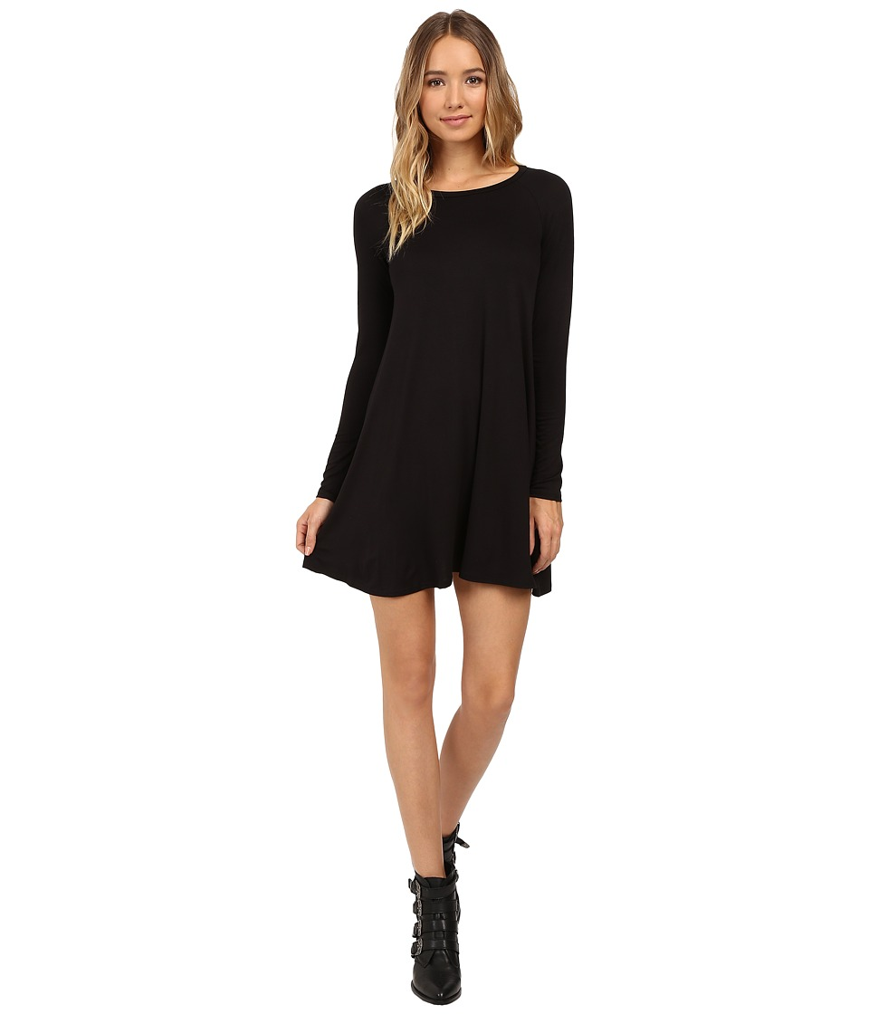Culture Phit Edena Long Sleeve Dress (Black) Women