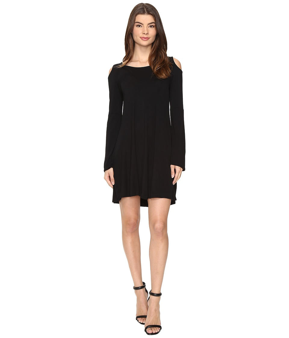 Culture Phit - Dallon Cold Shoulder Dress with Bell Sleeves (Black) Women's Dress