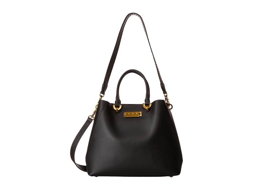 ZAC Zac Posen - Eartha Satchel (Black) Satchel Handbags