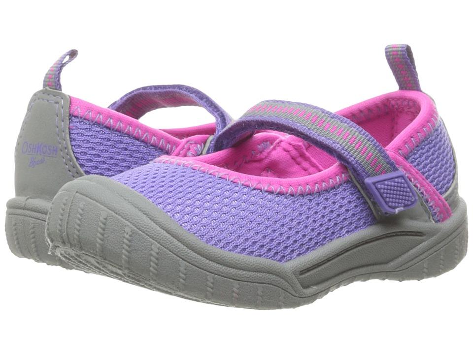 OshKosh - Luna (Toddler/Little Kid) (Grey/Purple) Girls Shoes