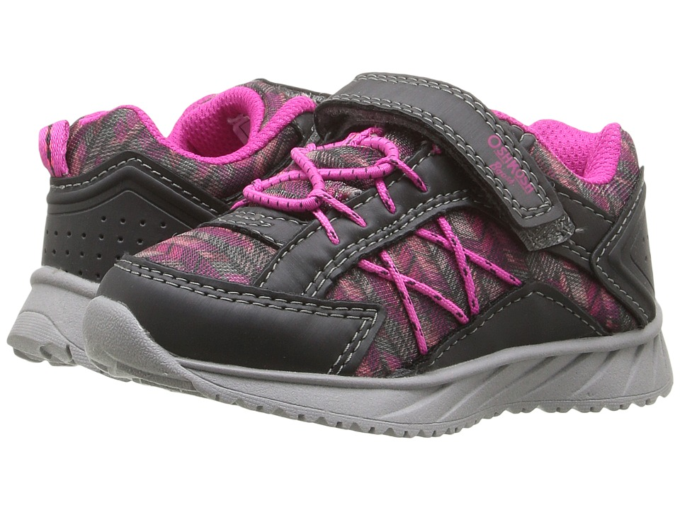 OshKosh - Rivet (Toddler/Little Kid) (Grey/Pink) Girls Shoes