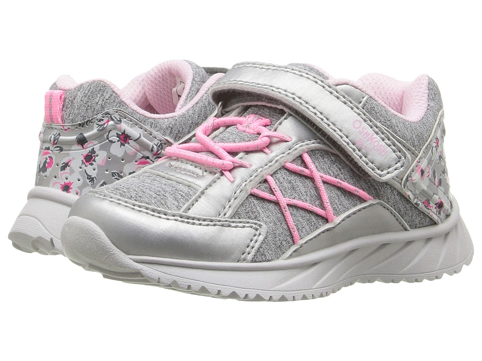 OshKosh - Rivet (Toddler/Little Kid) (Light Grey/Pink) Girls Shoes