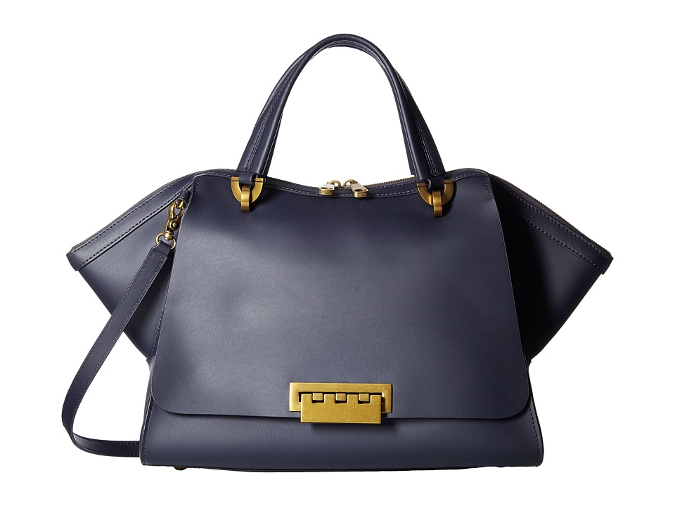ZAC Zac Posen - Eartha Iconic Jumbo Double Handle (Blue) Top-handle Handbags