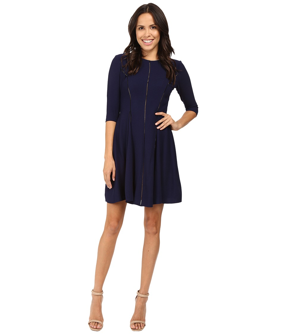 Taylor - Crepe Fit Flair (Midnight) Women's Dress
