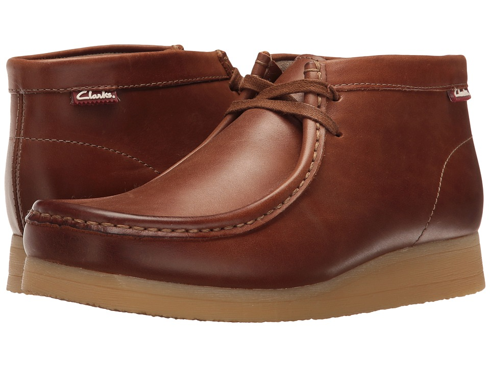 Clarks - Stinson Hi (British Tan Leather) Men's Lace-up Boots