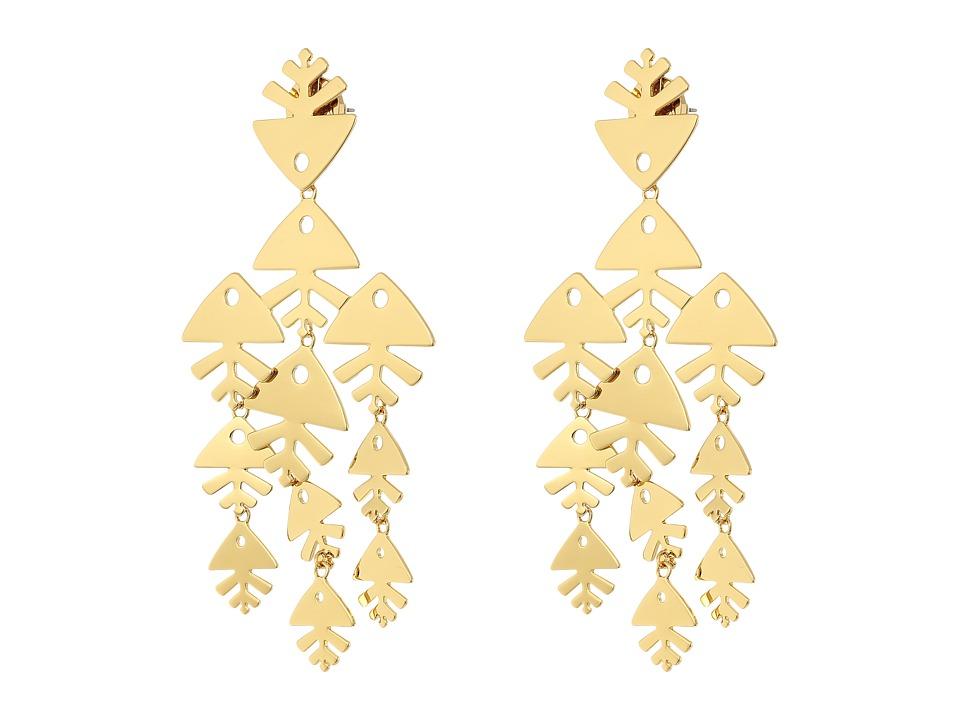 Tory Burch - Metal Fish Chandelier Earrings (Tory Gold) Earring