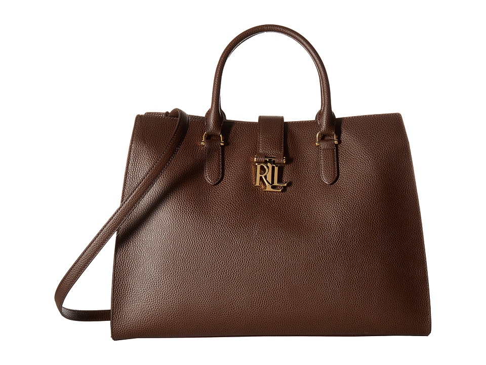 LAUREN Ralph Lauren - Carrington Bridgitte Tote (Burnished Brown) Tote Handbags