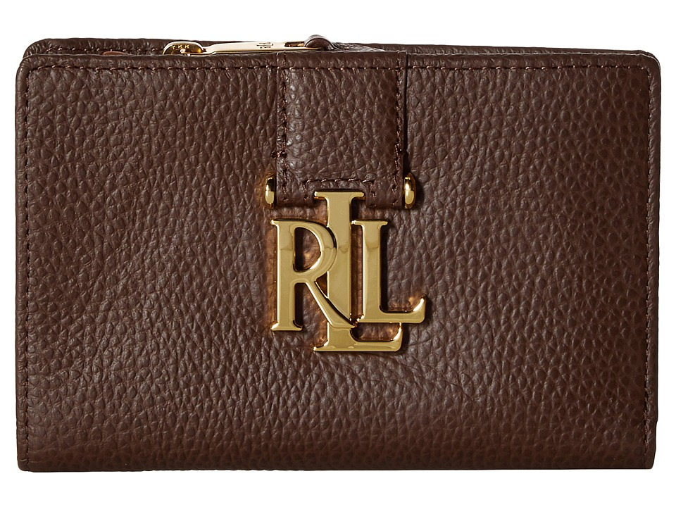 LAUREN Ralph Lauren - Carrington New Compact Wallet (Burnished Brown) Wallet Handbags
