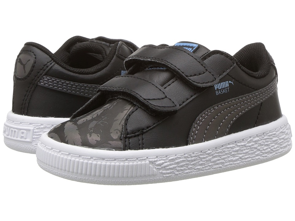 Puma Kids Basket Swan V INF (Toddler) (Puma Black/Puma Black) Girls Shoes
