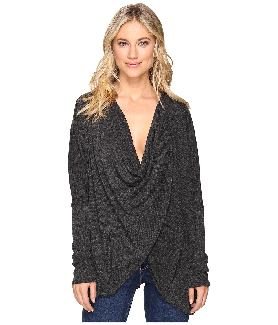 Culture Phit - Fawn Twist Front Sweater (Charcoal) Women's Sweater