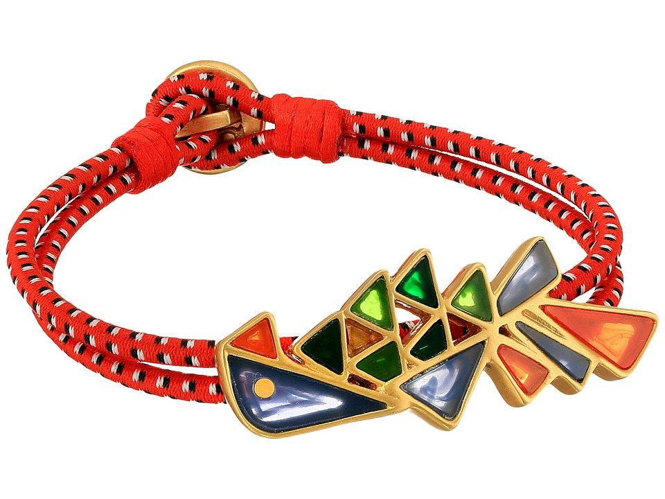 Tory Burch - Parrot Bungee Bracelet (Multi/Vintage Gold) Bracelet