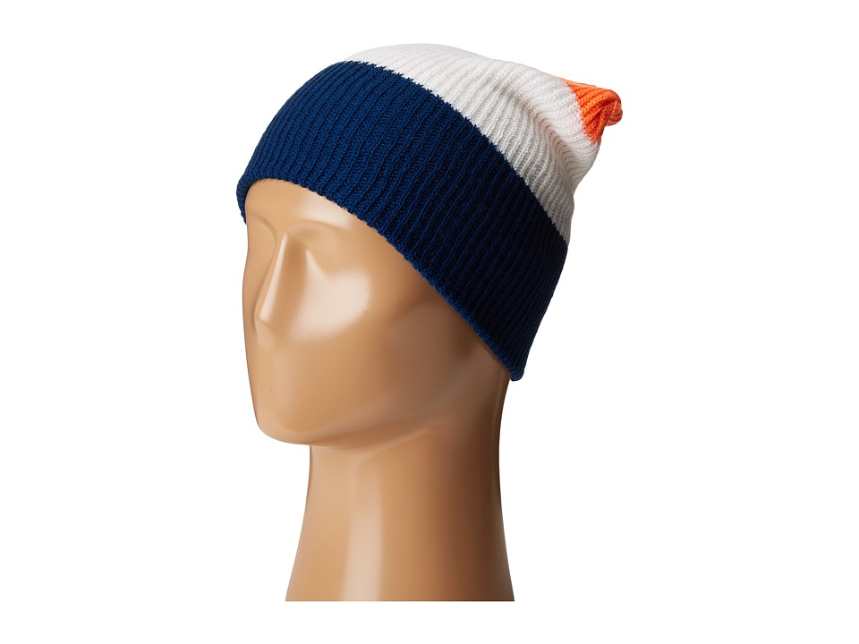 Neff - Trio Beanie (Navy/White/Orange) Beanies