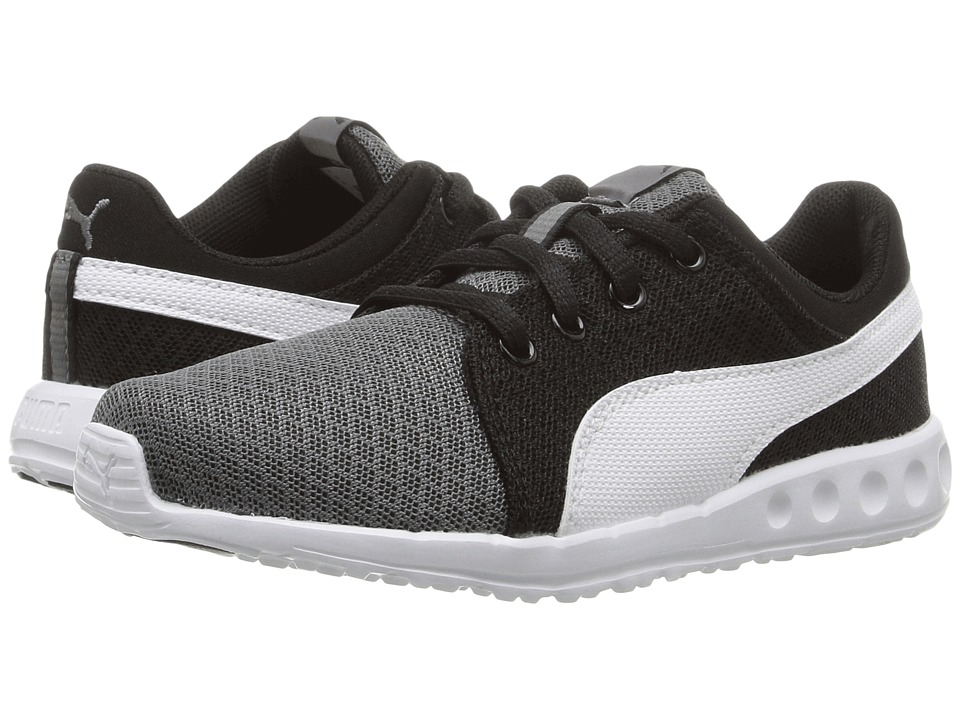 Puma Kids - Carson Runner 400 Mesh PS (Little Kid/Big Kid) (Steel Gray/Puma White) Boys Shoes