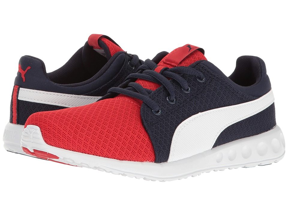 Puma Kids - Carson Runner 400 Mesh Jr (Big Kid) (High Risk Red/Puma White) Boys Shoes