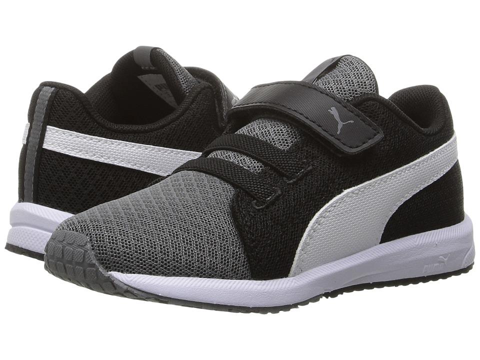 Puma Kids - Carson Runner Mesh VE V INF (Toddler) (Steel Gray/Puma White) Boys Shoes