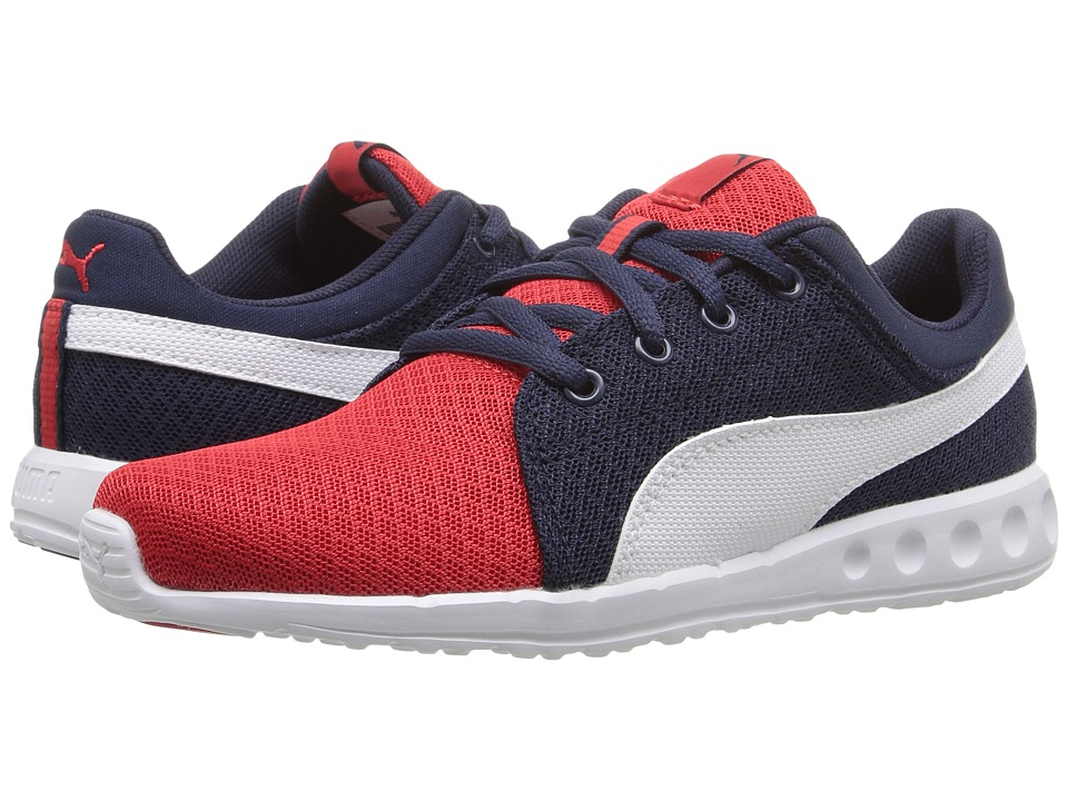 Puma Kids - Carson Runner 400 Mesh PS (Little Kid/Big Kid) (High Risk Red/Puma White) Boys Shoes