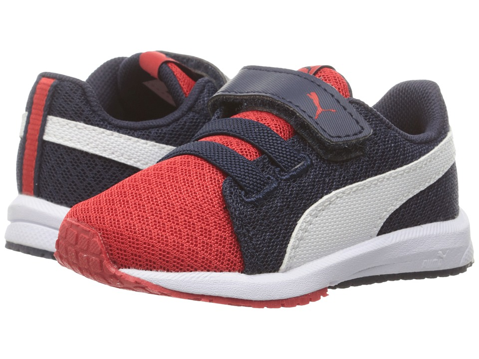 Puma Kids - Carson Runner Mesh VE V INF (Toddler) (High Risk Red/Puma White) Boys Shoes