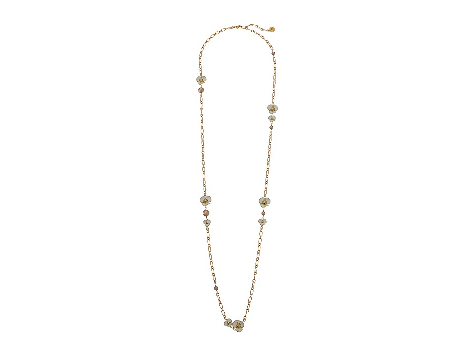 Tory Burch - Fleur Rosary Necklace (Ivory/Tory Gold) Necklace