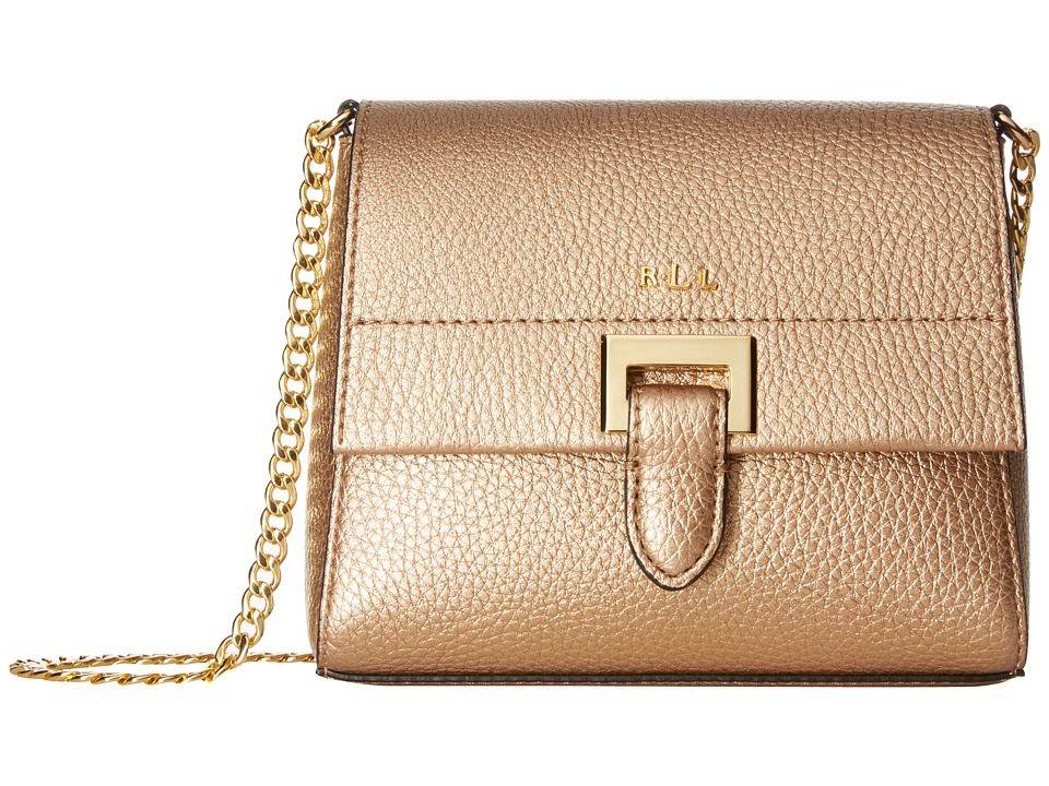 LAUREN Ralph Lauren - Carslisle Abree Mini Chain Crossbody (Gold Leaf) Cross Body Handbags