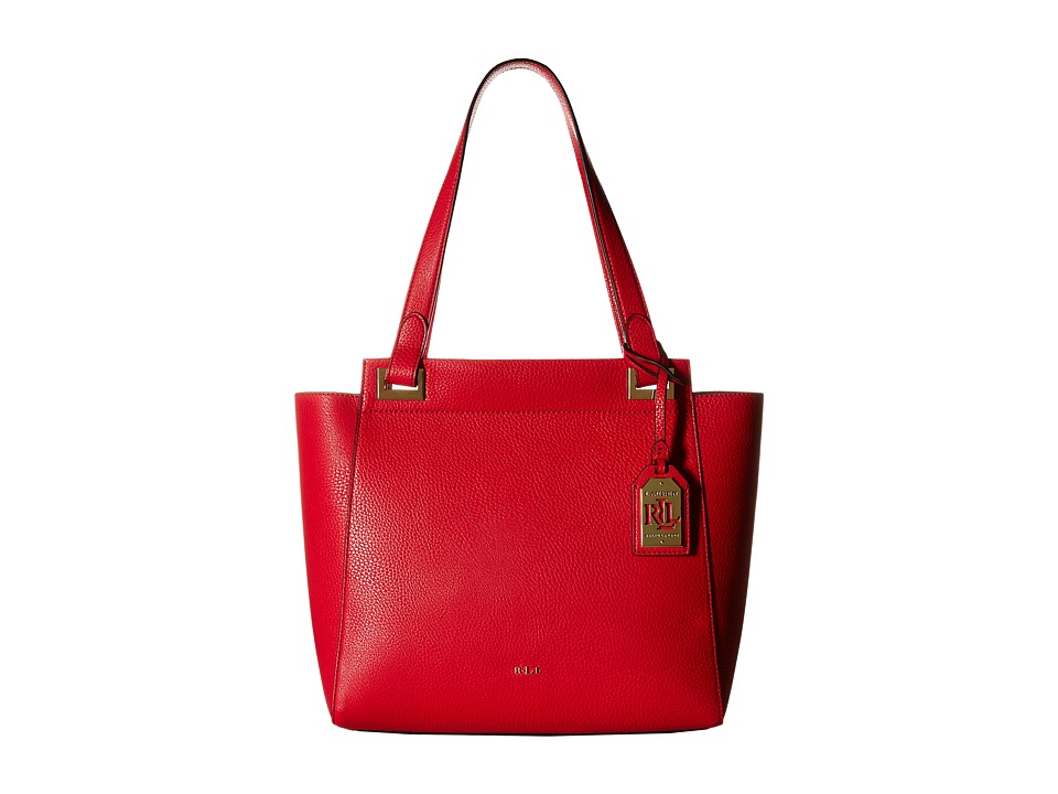 LAUREN Ralph Lauren - Carslisle Afton Shopper (Red) Handbags