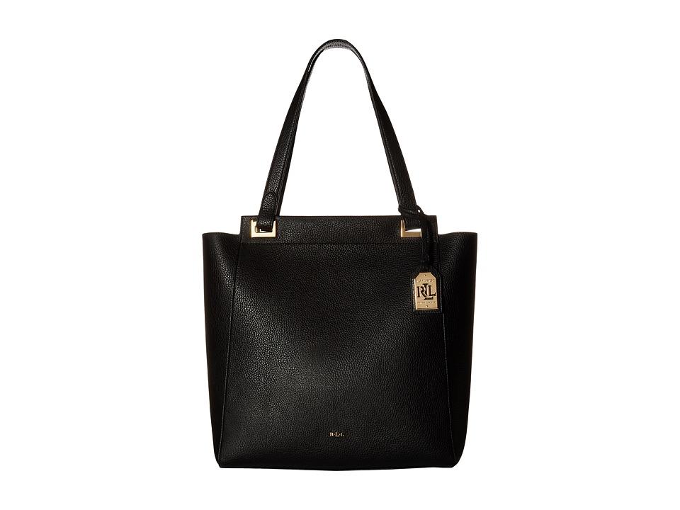 LAUREN Ralph Lauren - Carslisle Alissa Tote (Black) Tote Handbags