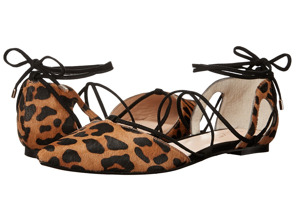 RAYE - Pepper (Dark Tan Leopard) Women's Flat Shoes
