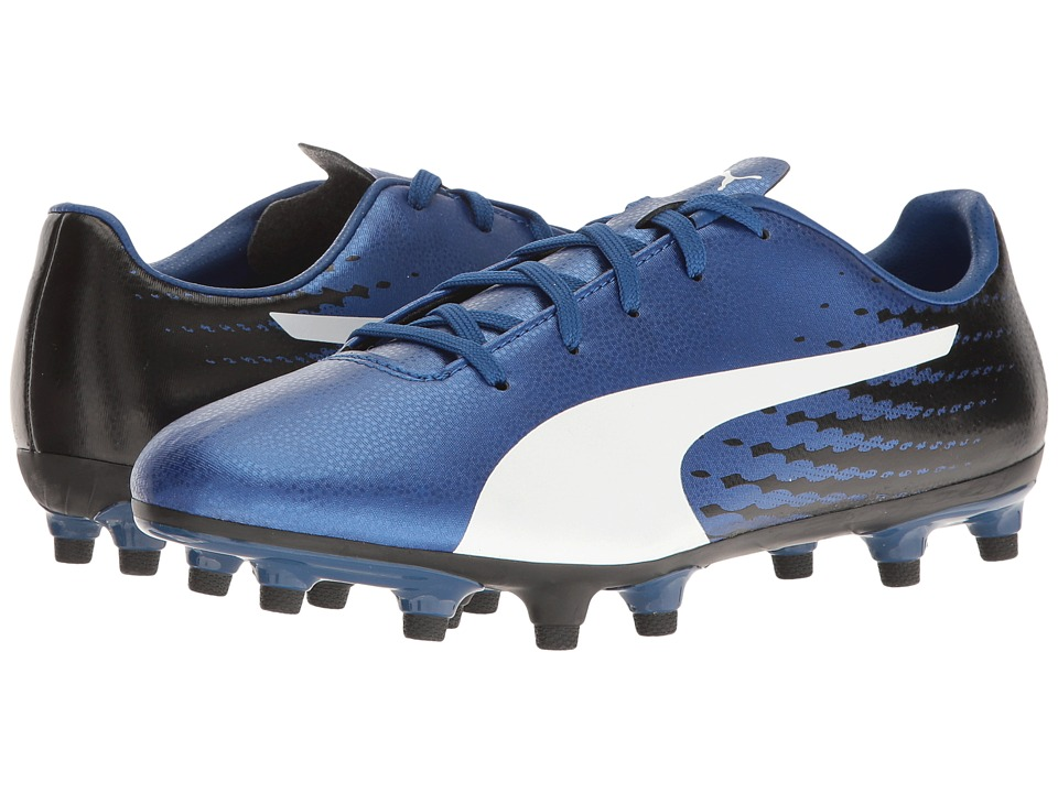 Puma Kids - evoSPEED 17.5 FG Jr Soccer (Little Kid/Big Kid) (True Blue/Puma White/Puma Black) Boys Shoes