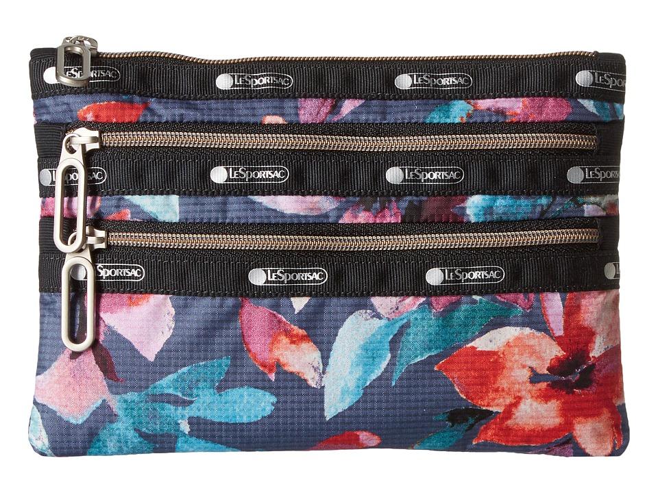 LeSportsac - Classic 3-Zip Pouch (Aurora) Wallet