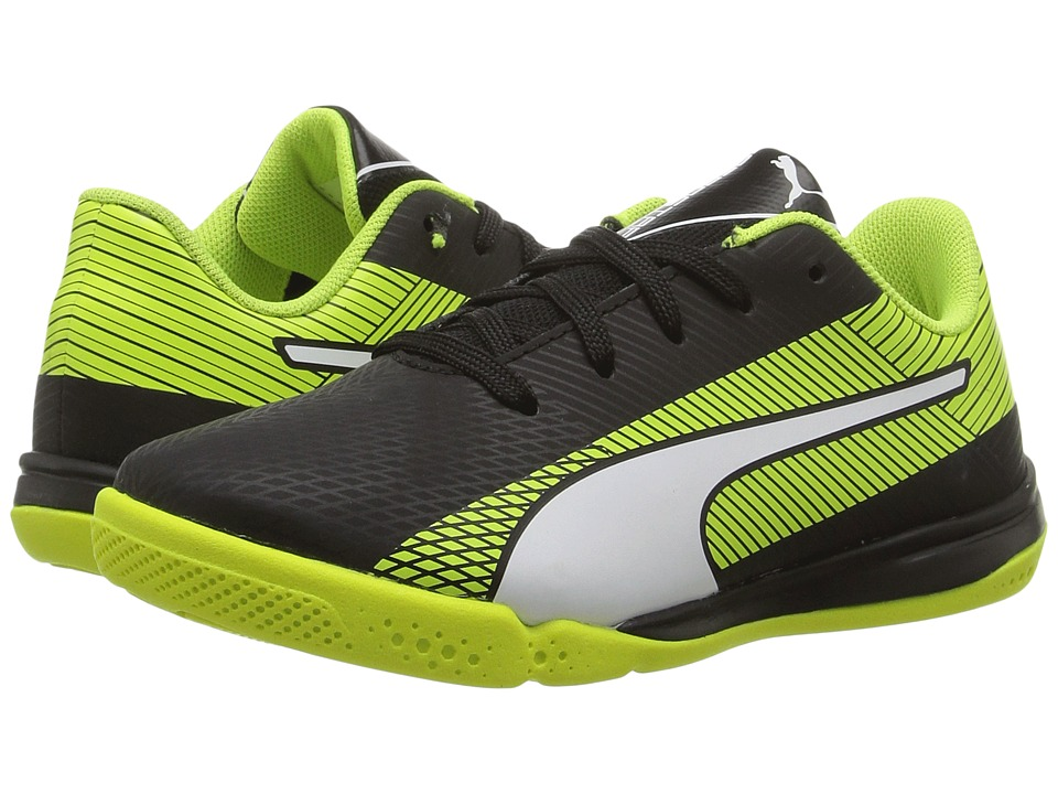 Puma Kids - evoSPEED Star S Jr (Little Kid/Big Kid) (Puma Black/Puma White/Safety Yellow) Boys Shoes