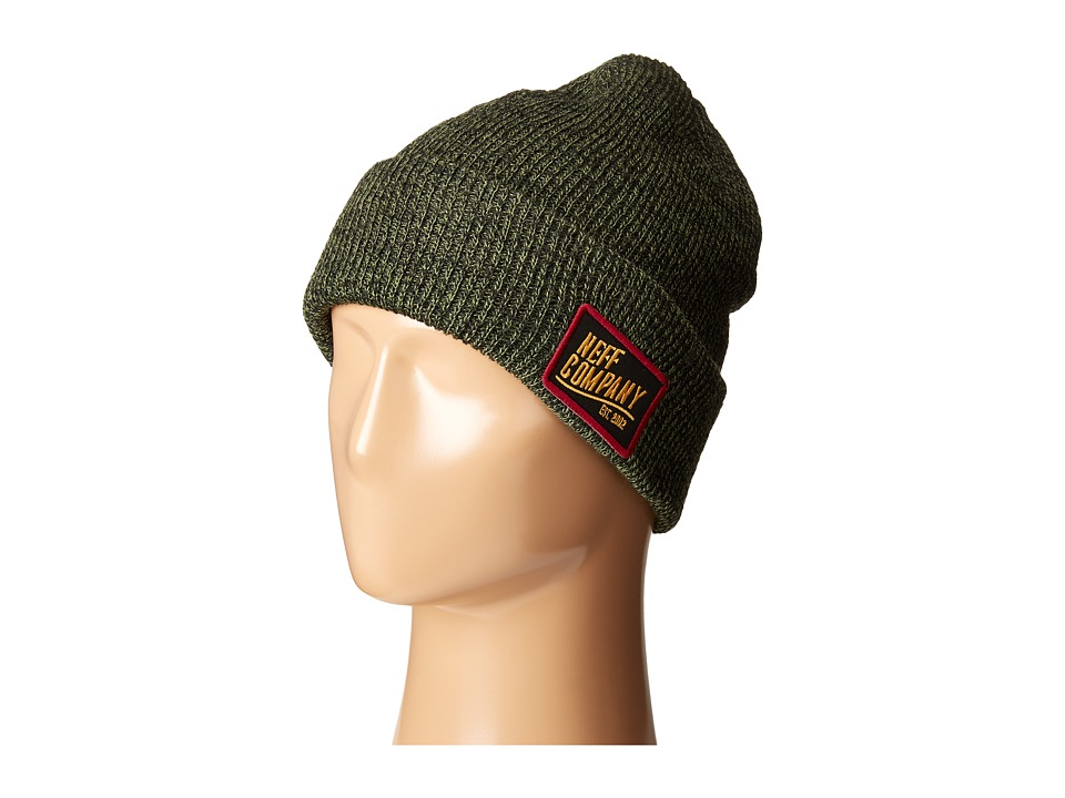 Neff - Station Beanie (Green/Black) Beanies
