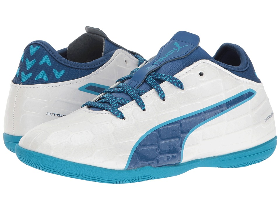 Puma Kids - evoTOUCH 3 IT Jr (Little Kid/Big Kid) (Puma White/True Blue/Blue Danube) Boys Shoes