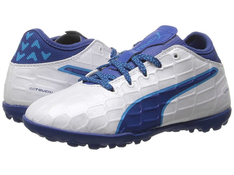 Puma Kids - evoTOUCH 3 TT Jr (Little Kid/Big Kid) (Puma White/True Blue/Blue Danube) Boys Shoes