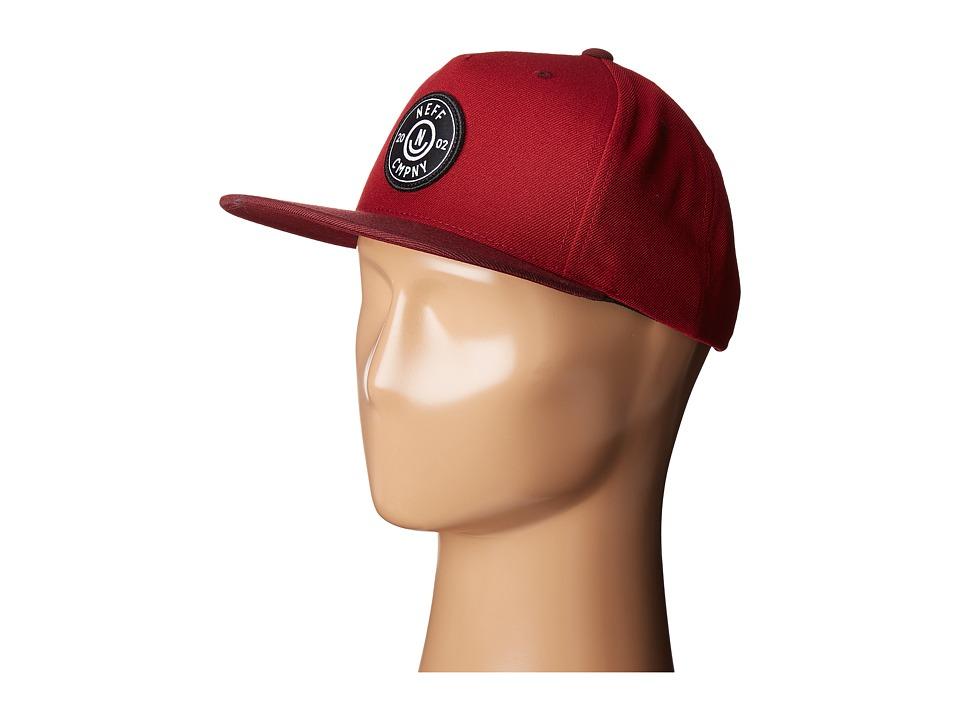 Neff - Wade Cap (Burgundy/Maroon) Caps
