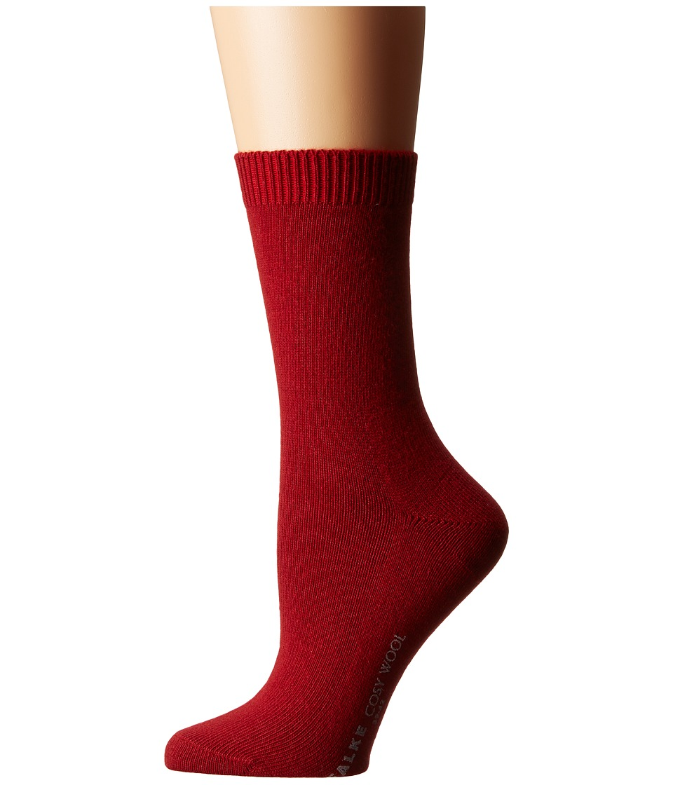 Falke - Cosy Wool Sock (Ruby) Women's Crew Cut Socks Shoes