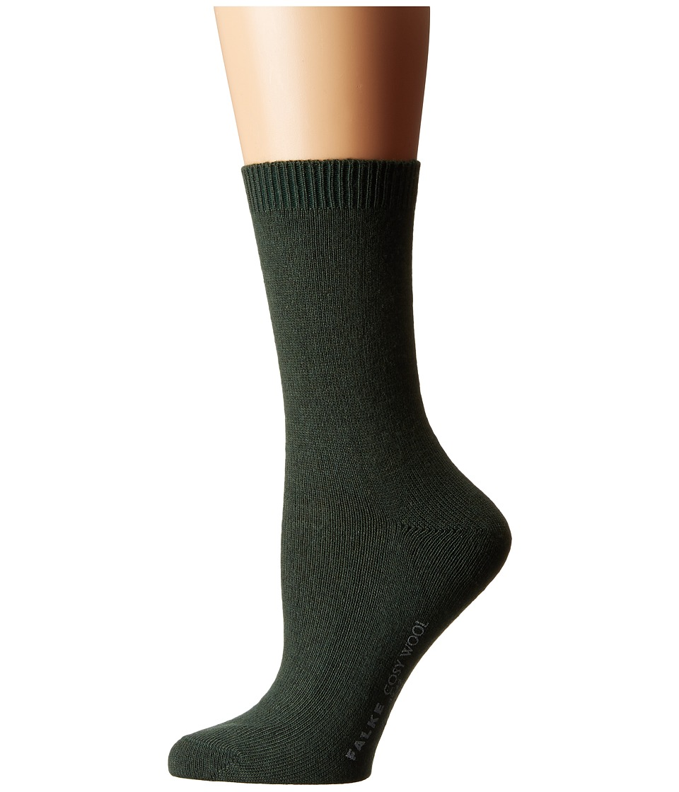 Falke - Cosy Wool Sock (Malachite) Women's Crew Cut Socks Shoes