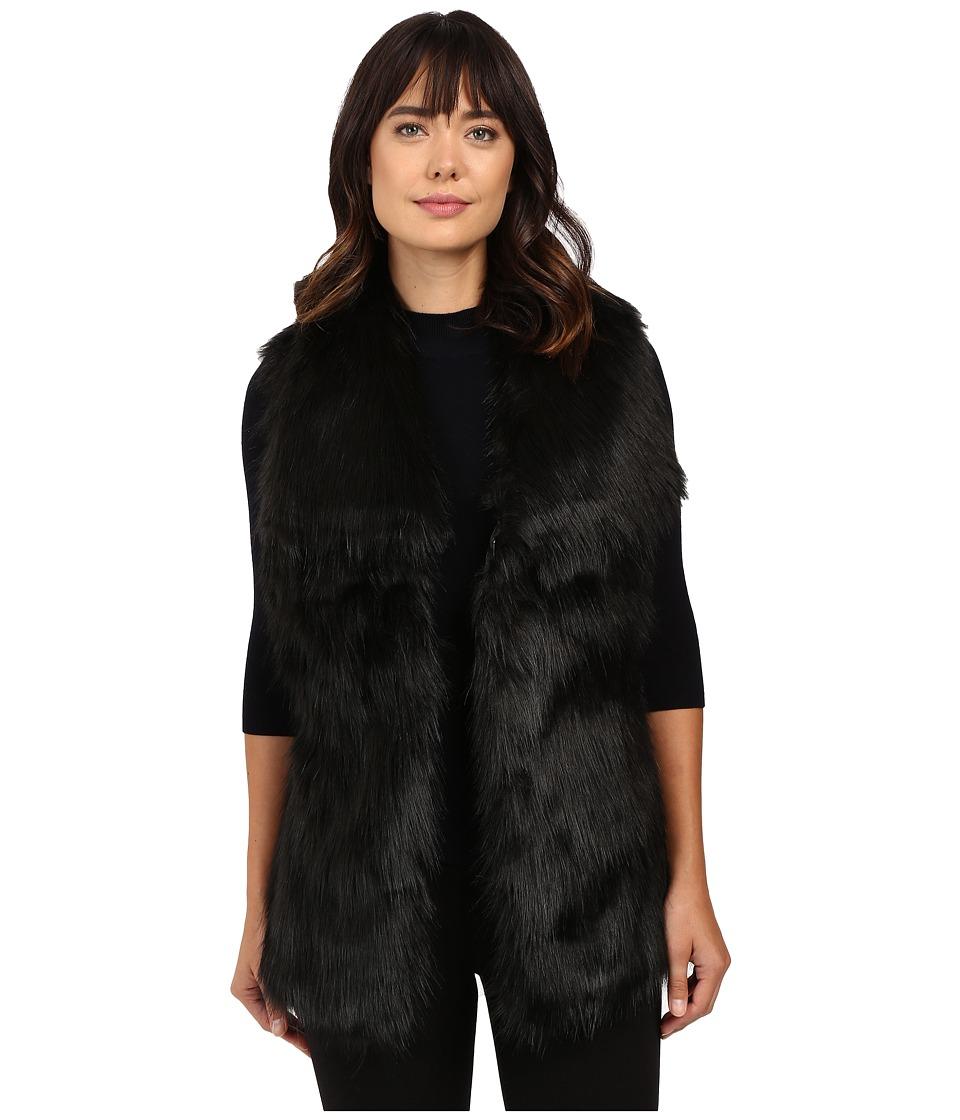 Via Spiga - Faux Fur Fox Vest (Black Multi) Women's Vest